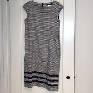 MaxMara Weekend Navy Striped Cap Sleeve Dress